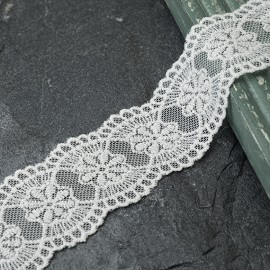 "1-1/2"" Vintage Embroidered Galloon Lace Trim by YD, TR-10960"