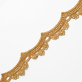 "1-1/4"" Metallic Lace Trim by Yard, LP-MX-1331"
