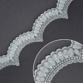 "2"" Metallic Lace Trim by Yard, LP-MX-1198"