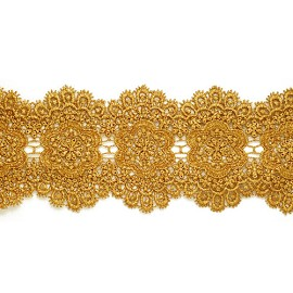 "3-5/8"" Metallic Lace Trim by Yard, LP-MX-3454"