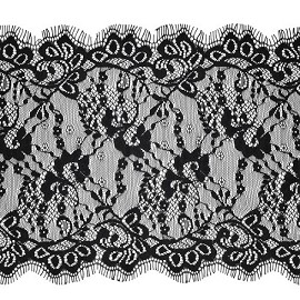 Floral Raschel  Non-Stretch Lace Trim by yard, TR-10860