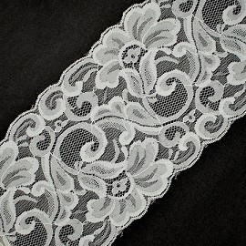 "5-1/2"" Floral Raschel Non-Stretch Lace Trim by YD, ROI-M3030"