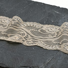 "3-1/2"" Raschel Non-Stretch Lace Trim by YD, SEE-NSL-0013"
