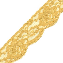 "1-1/4"" Non-Stretch Raschel Lace Trim by YD, SEE-NSL-0074"