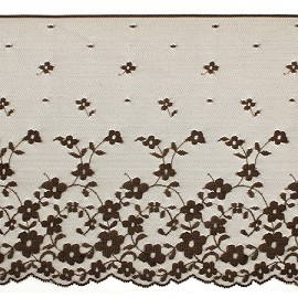 "7-3/4"" BROWN Raschel Non-Stretch Lace Trim by YD, SP-2018"