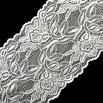 Floral Raschel Stretch Lace Trim by yard, 6-1/4