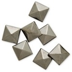10mm Metal Iron-on Convex Pyramid Nailhead by 100 PCs, HF-CONVEX PYRAMID