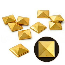 6mm Metal Iron-on Convex Pyramid Nailhead by 100 PCs, HF-CONVEX PYRAMID