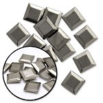 8mm Metal Iron-on Flat Top Pyramid Nailhead by 100 PCs, HF-FLAT TOP PYRAMID
