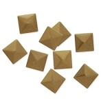 7mm Metal Iron-on Pyramid Nailhead by 100 PCs, HF-KR-PYRAMID
