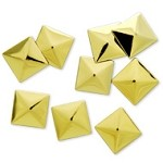 10mm Metal Iron-on Pyramid Nailhead by 100 PCs, HF-KR-PYRAMID