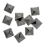 5mm Metal Iron-on Pyramid Nailhead by 100 PCs, HF-KR-PYRAMID