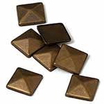 8mm Metal Iron-on Convex Pyramid Nailhead by 100 PCs, HF-CONVEX PYRAMID