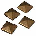 12mm Metal Iron-on Convex Pyramid Nailhead by 100 PCs, HF-CONVEX PYRAMID