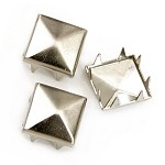 8 x 8mm Pyramid Metal Nailhead Prong Studs with Claws by 36pcs
