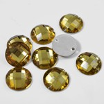 16mm Round Resin Sew-on Rhinestone, CT-2010-SO