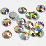 12mm Round Resin Sew-on Rhinestone, CT-2010-SO