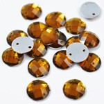 8mm Round Resin Sew-on Rhinestone, CT-2010-SO