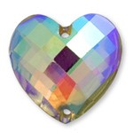 18mm Heart Resin Flatback Sew-on Rhinestone, CT-2330-SO