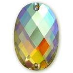 20 x 30 mm Oval Resin Sew on Rhinestone, CT-2180-SO