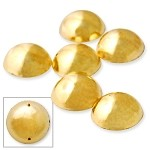 12mm Metal Looking Round Shape Resin Acrylic Sew-on stone with 2 holes by 10 pcs, TR-10233