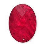 25 x 18mm Oval Shape Resin Acrylic Sew-on by pc, TR-10316