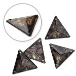 17 x 17mm Triangle Antique Resin Acrylic Sew-on by 12 PCS, TR10305