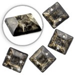 8 x 8 mm Square Antique Resin Acrylic Sew-on by 12 PCS, TR10307