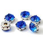 8.5mm Machine Cut Crystal Rhinestone Sew-on Montees by 6 pcs, TR-111746