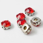 7mm Machine Cut Crystal Rhinestone Sew-on Montees by 6 pcs, TR-111746