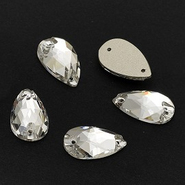 18x10.5mm  Crystal Drop Sew-on Stone by pc, DON-3065
