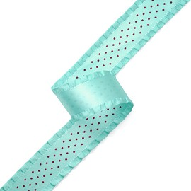 "1"" Polkdotted Frilled-edge Satin Ribbon by YD, TR-10547"