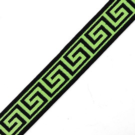 "25mm (1"") Greek Key Elastic Stretch Band Trim for headband, hand band and waist belt by 1-Yard, TR-11816"