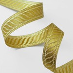 21mm Metallic  Jacquard Ribbon Trim by Yard, SMB-1002A