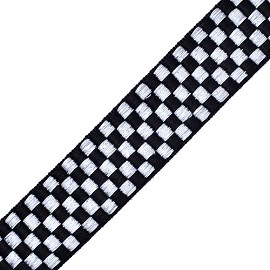 "1"" Checkboard Ribbon by Yard, SP1506"