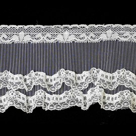 "3"" Ruffled Lace by Yard, HDL-057"