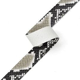 "3/4"" Animal Printed Vinyl Ribbon by YD, NAS-Serpente"