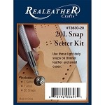 20L Snap Setter Kit-Nickel  by each, REAL-T3630-20