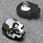 14 x 10.5mm Swarovski 2856 Skull Flat Back Button with Shank by pc