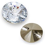 18mm Swarovski 3015 Sew On Rivoli Crystal Button, SW-3015
