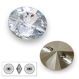 10mm Swarovski 3015 Sew On Rivoli Crystal Button, SW-3015