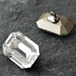 18x13mm Swarovski Crystal 4610 Octagon Fancy Button with Shank