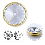 7mm Swarovski Crystal 1770 Rhinestone button with shank