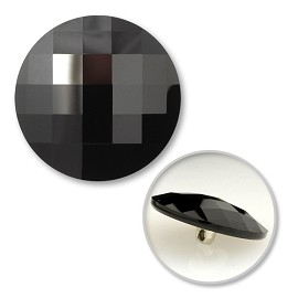 20mm Swarovski Crystal 2035 Chessboard Circle Flat Back Button with Shank