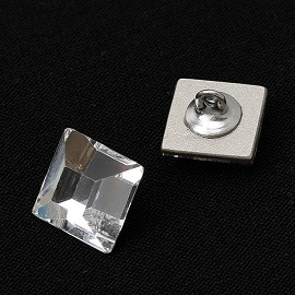 10mm Swarovski 2400 Square Flat Back Crystal Button by 1PC, SW-2400BT