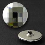 14mm Swarovski Crystal 2035 Chessboard Circle Flat Back Button with Shank