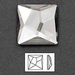 25mm Swarovski Crystal 2420 Asymmetric Square Flat Back Rhinestones