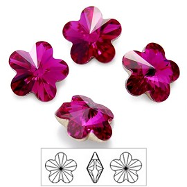 6mm Swarovski Rhinestone 4744 Rivoli Flower Fancy Stone