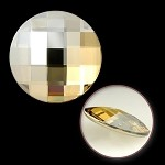 10mm Swarovski Crystal 2035 Chessboard Circle Flat Back