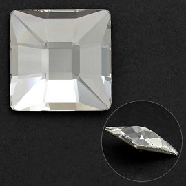 10mm Swarovski Crystal 2483 Classic Square Flat Back by each